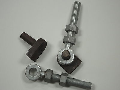 "Gate Hinges Pins Pair Of Weld On 3/4""(19mm) With 150mm Eyebolts"