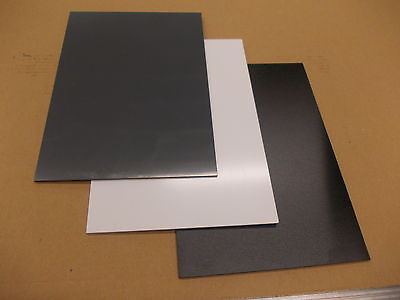 A3 3 mm solid UPVC sheet 420 mm x 297 mm Black-White-Grey Engineering-Cladding