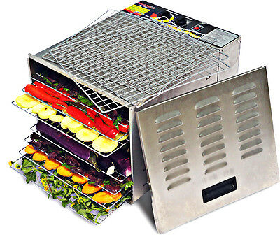 Commercial Grade 10 Tray Food Dehydrator 1000W  STAINLESS STEEL - FREE SHIPPING!
