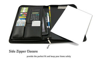 A4 Business Folder Card Folio Conference Portfolio PU Leather iPad Case Holder