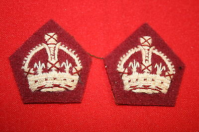 BRITISH CANADA WWII WW2 MEDICAL RANK MAJOR CROWN CROWNS PAIR
