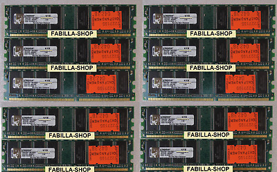 10 X Ddr Pc3200 512 Mb 512Mb Memoria Ram 184 Pin 400Mhz 400 (10 Pezzi) Lotto Lot