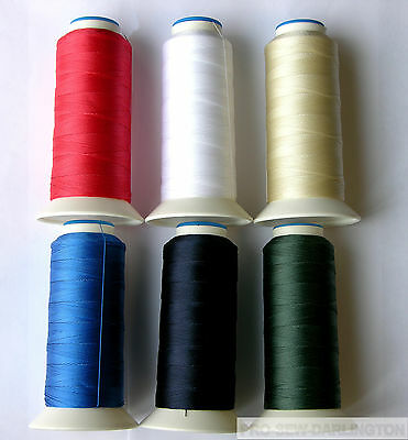 NYLON STRONG HEAVY DUTY SEWING THREAD 40s ( CHOICE OF 15 COLOURS )