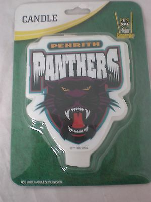 Penrith Panthers NRL Team Logo Large Candle