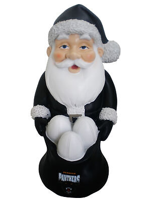 Penrith Panthers NRL Christmas Santa Gnome with Footballs in a Santa Sack