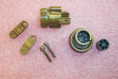 Qty(2) Ms3106E14S-6P Itt 6 Pin Circular Connector W/ 057-0364-014 End Bell Assy