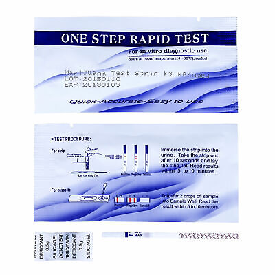 20 x Drogentest Streifen THC Cannabis Marihuana drug test by kernmed