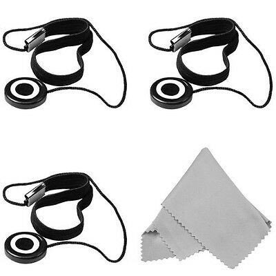 3 Pcs Lens Cap Keeper + Premium Magic Fiber Cleaning Cloth