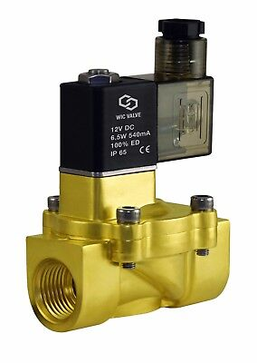 "3/8"" Inch Brass Electric Air Water Low Power Consumption Solenoid Valve 12V DC"