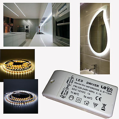 LED Under Cabinet Strip Display Lights 12 dc Warm or Cool White with Driver