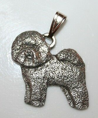 BICHON FRISE Dog Harris Fine Pewter Pendant USA Made