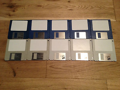 "10 x blank 3.5"" DS/DD, Double Sided floppy disks for Amiga, Atari ST"