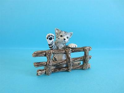 ♥ NEW JULY 2013 - MY NEWLY COMMISSIONED CAT POUPOUCE&FENCE FIGURINE *SECOND ONE*