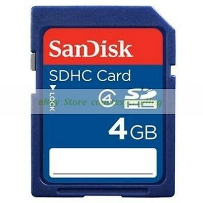 SanDisk SDHC 4GB 4G Class 4 C4 Flash Memory Card New Lifetime Warranty
