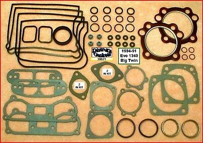 Top End Gasket Kit for Harley Evo 84-91 Big Twin 1340 Beaded Carbon Head Gaskets