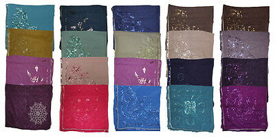 Wholesale Lot of 12 Bridal Beaded High quality Hijabs Different color for Eid