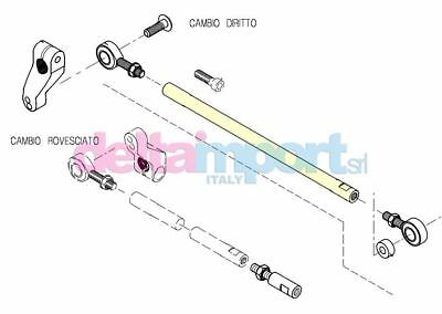 Asta rinvio cambio Gear Shift Rod LIGHTECH FTR238 FTR32 FTR127 in alluminio