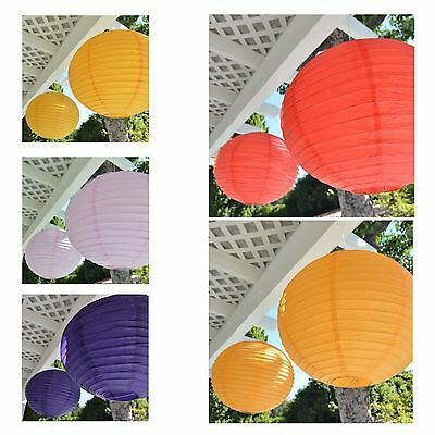 """Package of 2 Round Asian Style Chinese Round Lanterns 16"""" Hanging Multi Color XL"""