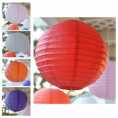 "Package of 3 Round Asian Style Chinese Round Lanterns 12"" Hanging Multi Color"