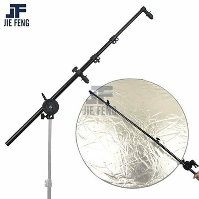 "PRO Studio Photo Holder Bracket Swivel Head Reflector Arm Support 24""-66"""