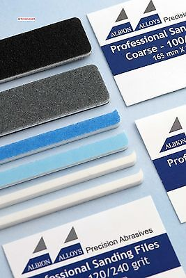 Albion Alloys 342 3 Professional Quality Double Sided Sanding Files 120/240 Grit