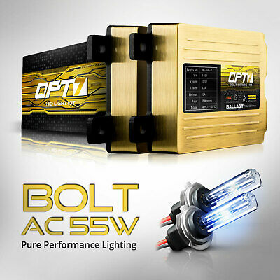 OPT7 AC 55w HID KIT Motorcycle 2x H7 6000K BRIGHT BLUE Light XENON Conversion