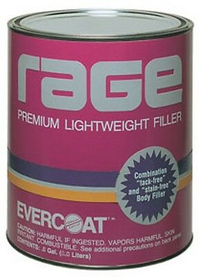 Rage Premium Lightweight Body Filler, Gallon FIB-106 Brand New!