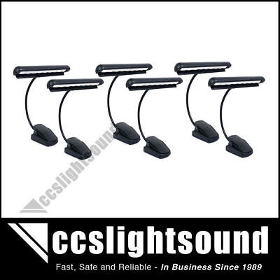6 x HIGH QUALITY MUSIC STAND / ORCHESTRA LIGHT WITH GOOSENECK & 9 LED'S