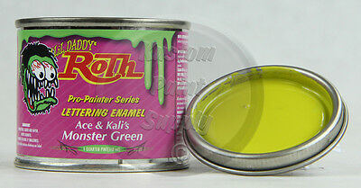1/4 Pint - Lil' Daddy Roth Pinstriping Enamel - Ace & Kali's Monster Green