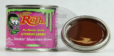 1/4 Pint - Lil' Daddy Roth Pinstriping - Smokin' Shutdown Brown