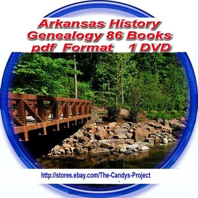 86 Books Pdfs Arkansas History Genealogy Civil War Counties 3 DVDs