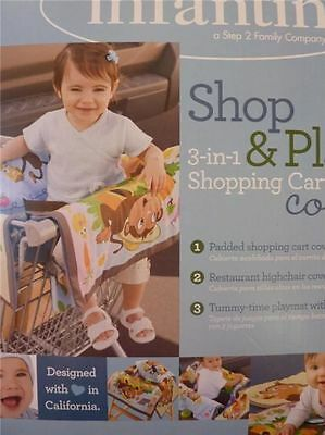 New Infantino Shop & Play 3-in-1 Shopping Cart Cover  High Chair Cover Play Mat