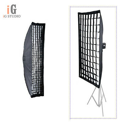 Photo Studio Honeycomb Grid Softbox 20x90cm with Bowens Mount for Strobe Flash
