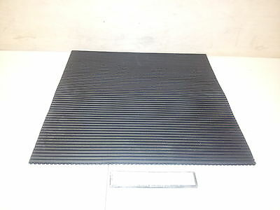 """NOS Solid Rubber Sheet Mat 5/16"""" x 18"""" x 18"""" Serrated Ribbed 3451801 TAD1008"""