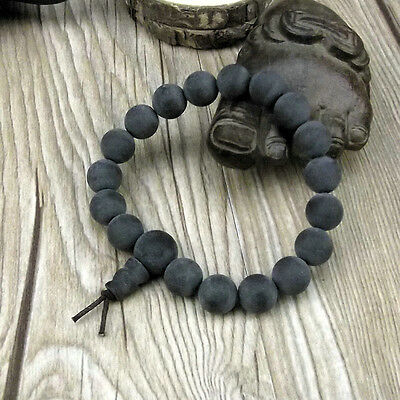 8mm Black Amber Beads Tibet Buddhism Bracelet