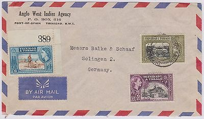 (R9-53) 1953 Envelope TRINIDAD to GERMANY