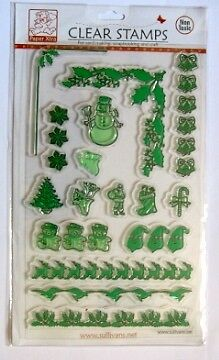 NEW Sullivans Christmas Borders Stamp Clear Stamping Scrapbooking Cardmaking