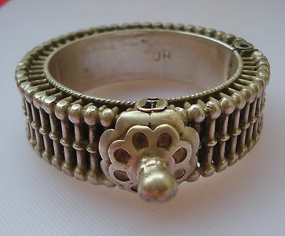 vintage antique ethnic tribal old silver bangle bracelet traditional jewelry
