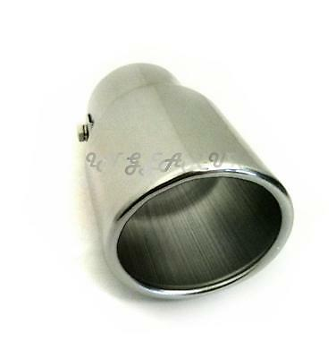 Large Big bore exhaust tail pipe tip Alloy car / van chrome look trim UNIVERSAL