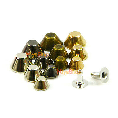 Bucket Rivet Metal Spike Studs Leathercraft DIY Fashion Biker Rapid Punk Rock