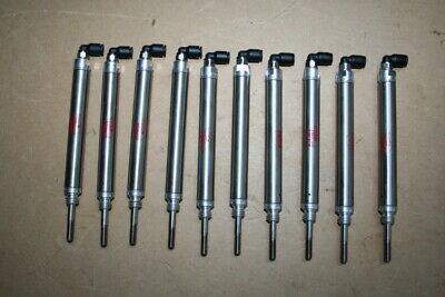Pneumatic cylinder 7/16 in bore 1 1/2 in stroke Bimba Stainless Lot of 10