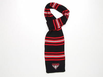 Essendon Bombers AFL Striped Cable Knit Loop Scarf