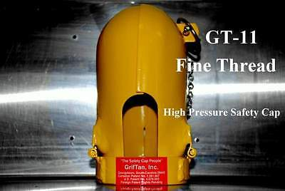 Griftan High Pressure Cylinder Safety Cap - Gt-11 Fine Thread - Oxygen Argon