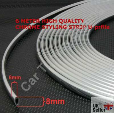 6m CHROME CAR DOOR GRILLS EDGE STRIP PROTECTOR CHEVROLET CHRYSLER