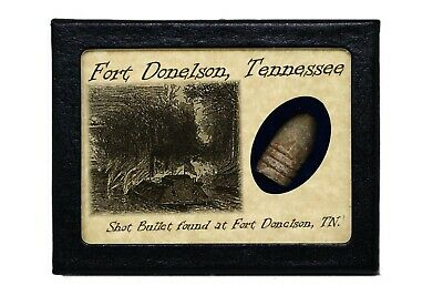Shot Bullet From the Battle of Fort Donelson, Tennessee with COA
