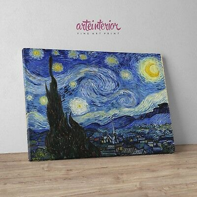 Vincent Van Gogh - Notte Stellata (Starry Night) Stampa Fine Art su tela Canvas