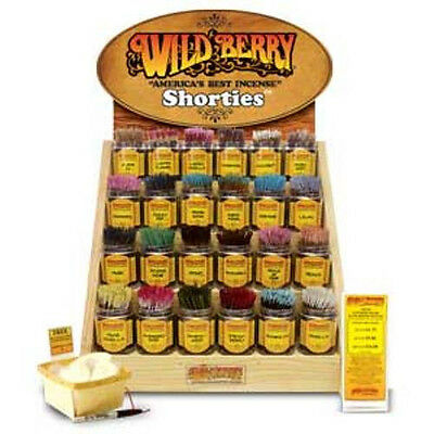 Wildberry Mini Incense Sticks - Shorties 4 Inches - Choose Scent 10, 50 or 100