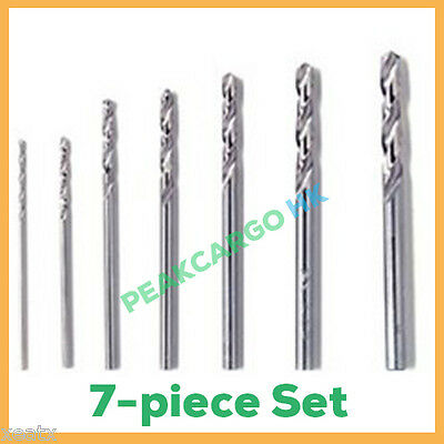 7-Piece Precision HSS Twist Drill Bits Set Straight Shank DREMEL PROXXON Rotary