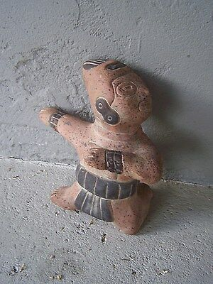 Clay Desktop Precolumbian Aztec? Maya? Toltec? Dancing Idol/God - Mexico