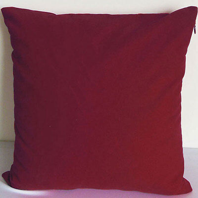 Scarlet Color Suede Like Velvet Cushion Cover Case Made to Order #u17-tp-2
